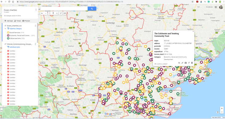 Mapping tools for charities